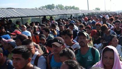 1,087 personas centroamericanas, en su mayoría hondureñas, ingresaron este fin de semana a México (Foto: Cuartoscuro)