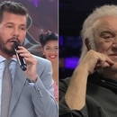 Marcelo Tinelli y Coco Basile