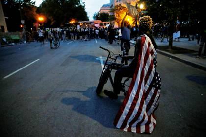Protestas en Washington. REUTERS/Jim Bourg