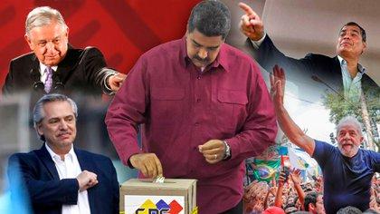 Andres Manuel López Obrador, Rafael Correa, Alberto Fernández y Lula Da Silva se han mantenido en silencio mientras Nicolás Maduro avanza hacia una nueva parodia electoral.