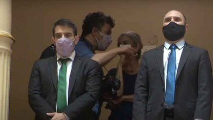 El Ministro Martin Guzman en el Senado