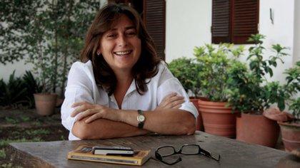 """Sandra Siemens, autora de """"Cocodrilo con flor rosa"""""""