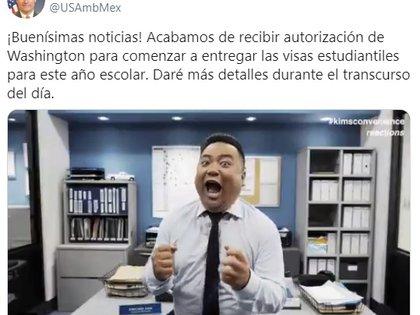 Política: Autoriza EU entregar visas escolares, informa Landau