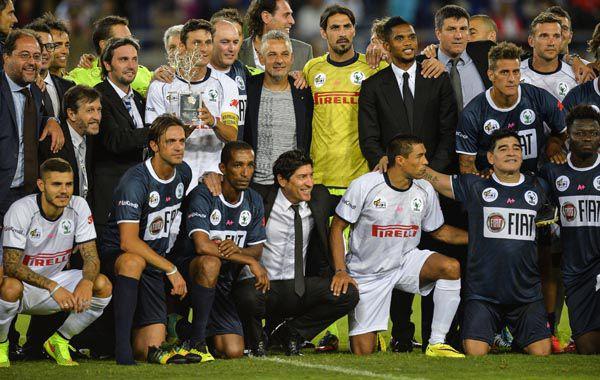 El partido por la Paz en el Olímpico de Roma se jugó en septiembre de 2014 (AFP)