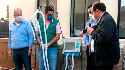 La presentación de la llegada de los respiradores chinos a Bolivia