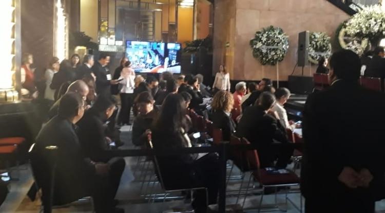Así luce en estos momentos el Palacio de Bellas Artes (Patricia Juárez / Infobae)