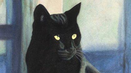 El gato negro también está asociado a la mala suerte.