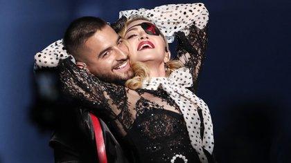 Madonna y Maluma durante su presentación en los Billboard Music Awards 2019, celebrados en Las Vegas, Nevada (Foto: REUTERS/Mario Anzuoni)