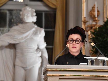 Olga Tokarczuk  (Jonas EKSTROMER / TT NEWS AGENCY / AFP) / Sweden OUT)
