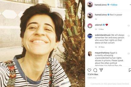 """Descansa en poder"", dijo Hamed Sinno al homenajear Sarah Hegazi"