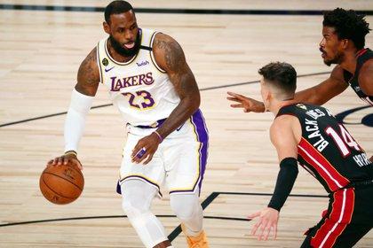 LeBron James lideró a Los Ángeles Lakers a un nuevo campeonato de la NBA (Mandatory Credit: Kim Klement-USA TODAY Sports)