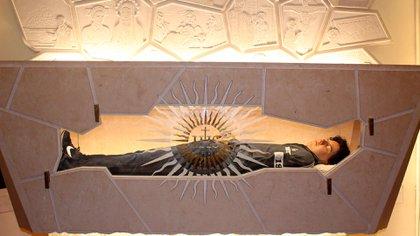 El cuerpo de Carlo Acutis en Asís (Foto de IPA/ Sipa USA)