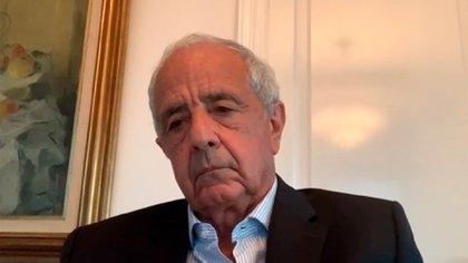 Rodolfo D'Onofrio, presidente de River, participó de la reunión virtual