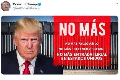 El mandatario ha manifestado sus políticas anti-inmigrantes desde que inicio su gobierno (Foto: Twitter)