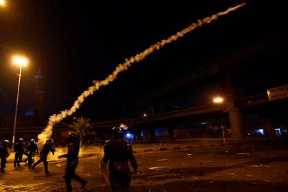 Una escena de la represión en Najaf (Reuters)