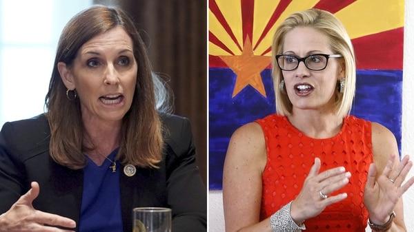 Martha McSally y Kyrsten Sinema se disputan una banca en Arizona