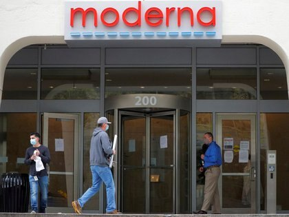 Sede de Moderna Inc. en Cambridge, Massachusetts (Reuters)