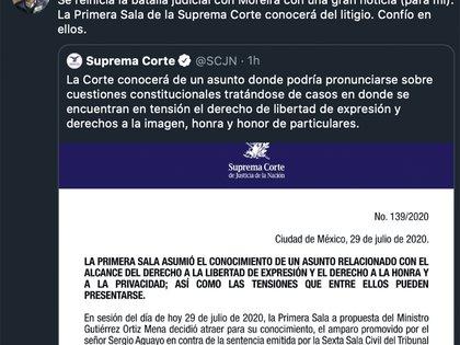 Tras conocer la noticia, Sergio Aguayo dijo que confiabia en los ministros de la SCJN (Foto: Twitter@sergioaguayo)