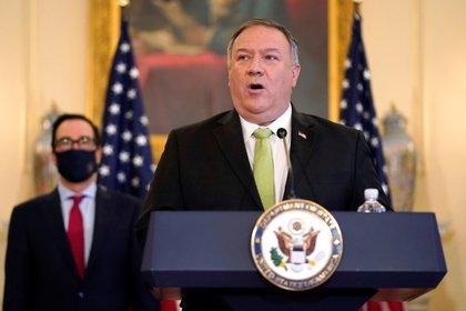 La conferencia encabezada por Mike Pompeo (Reuters)