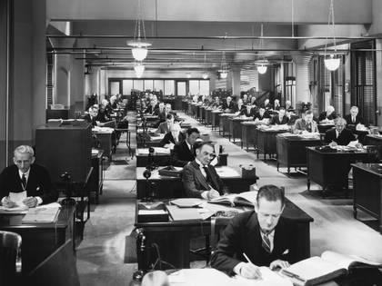 Las oficinas del siglo XX fueron el comienzo de una nueva modalidad de trabajo (Shutterstock)
