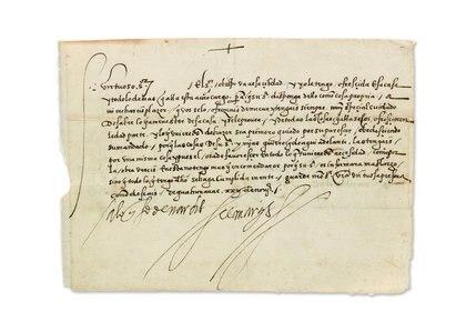 Esta rara carta de Hernán Cortés a su administrador de propiedades, en la que le indicaba que fuera hospitalario con un obispo visitante, fue vendida por $ 32,500 en 2017 por la casa de subastas Swann Auction Galleries
