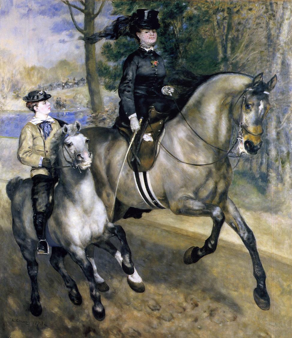 Paseo a caballo en el bosque de Boulogne