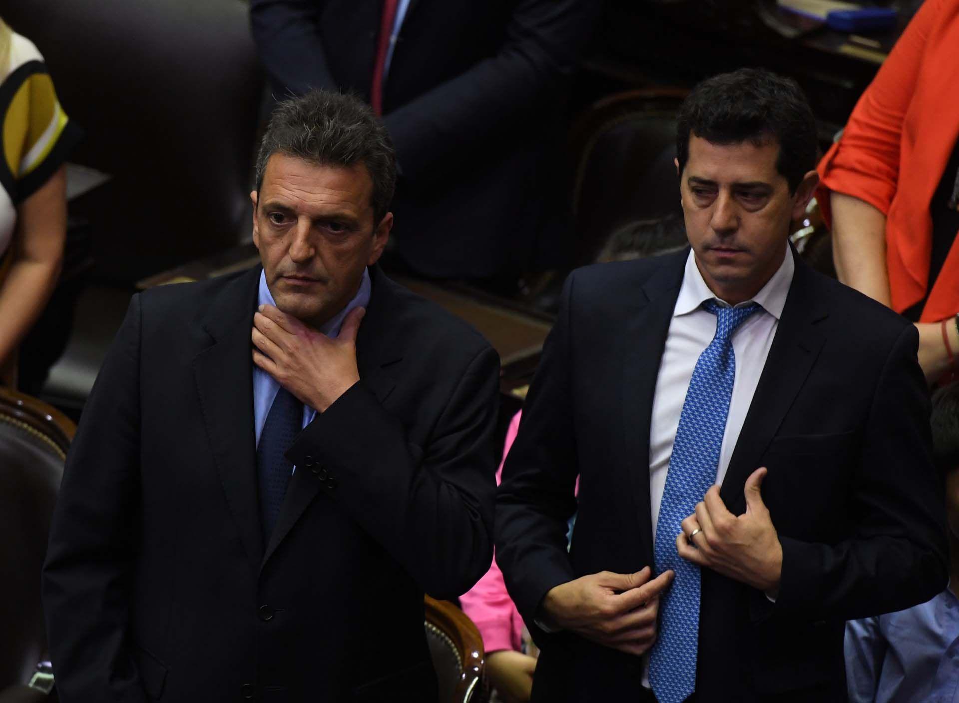 Massa y De Pedro se encontrarán con los jefes legislativos de Juntos por el Cambio en el Congreso
