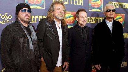 """Los Led Zeppelin en la presentación de """"Celebration day"""" (AP)"""