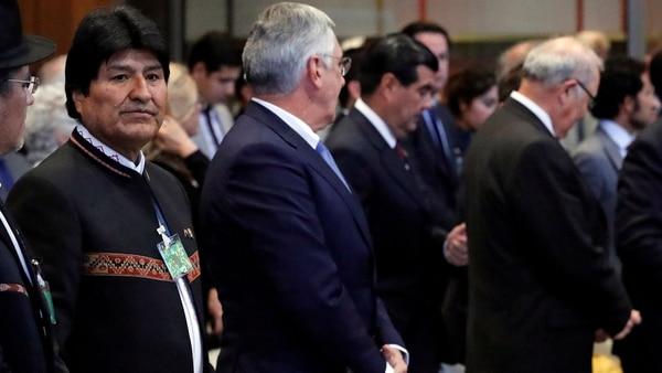 Morales tras la lectura del fallo en el Palacio de la Paz (Reuters)