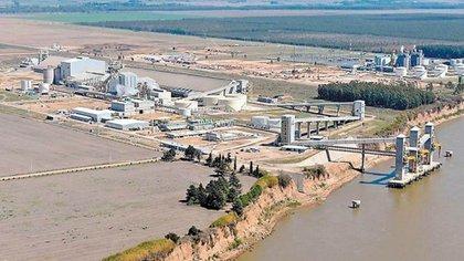 La planta de Renova en San Lorenzo, Santa Fe, donde Vicentin es socia con Glencore.