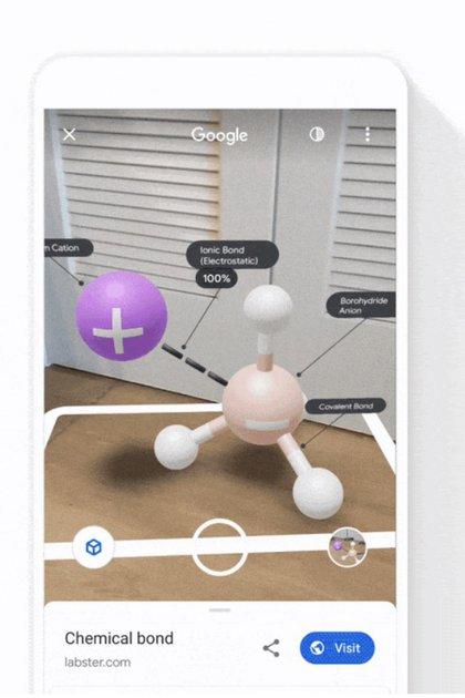 En el buscador se pueden buscar imágenes para ver en realidad aumentada