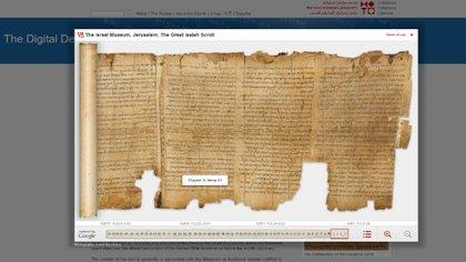 Manuscritos del Mar Muerto (Google – Museo de Israel)