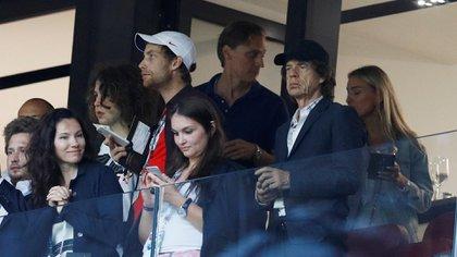 Jagger fue una de las personalidades destacadas que siguió en vivo Inglaterra-Croacia en Luzhnikí (REUTERS/Darren Staples)