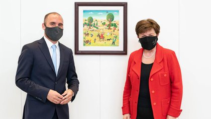 El último encuentro de Martin Guzman y Kristalina Georgieva en Washington
