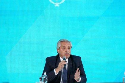 Le président argentin se joindra à la photo virtuelle de Davos (Franco Fafasuli)