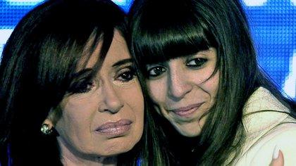 Cristina Kirchner junto a su hija Florencia