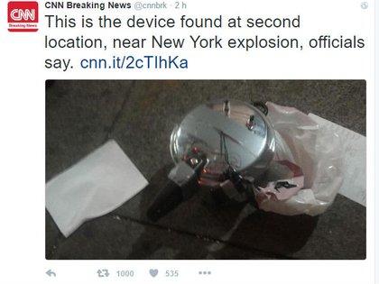 El paquete sospechoso sería una olla a presión con un celular conectado