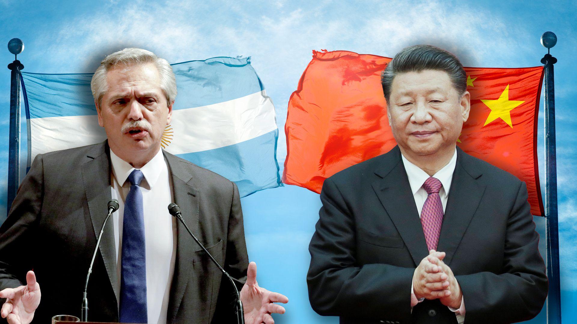 Alberto Fernández y Xi Jinping (Shutterstock)
