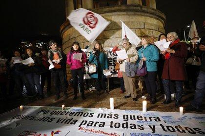 La Oficina de Naciones Unidas para los Derechos Humanos dijo el pasado 24 de abril que al menos 19 defensores de derechos humanos y líderes sociales han sido asesinados este año en Colombia y que están en verificación otras 34 posibles muertes de activistas. EFE/Mauricio Dueñas/Archivo