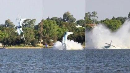 La impactante secuencia muestra cómo fue el accidente. Cientos de smartphones capturaron la tragedia en Perth