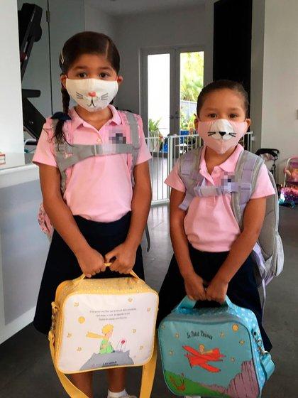 Algunos de los niños que volvieron a clase presencial esta semana en Miami