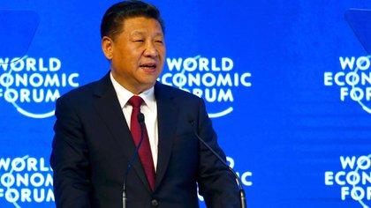 Xi Jinping en el Foro Económico Mundial en Davos (Reuters)