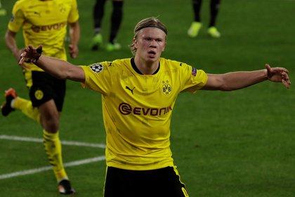 El delantero noruego del Borussia Dortmund Erling Haaland. EFE/Julio Muñoz/Archivo