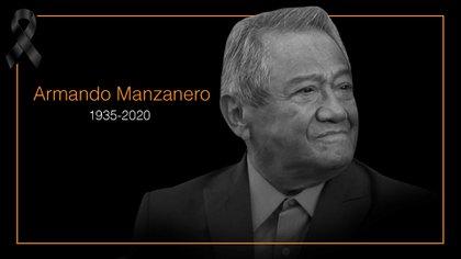 Murió Armando Manzanero la madrugada de este 28 de diciembre, víctima del COVID-19 (Imagen: Infobae)