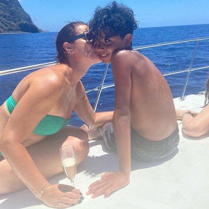La familia de Ronaldo de vacaciones en Madeira