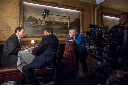 "Martin Scorsese en pleno rodaje de ""El Irlandés"""