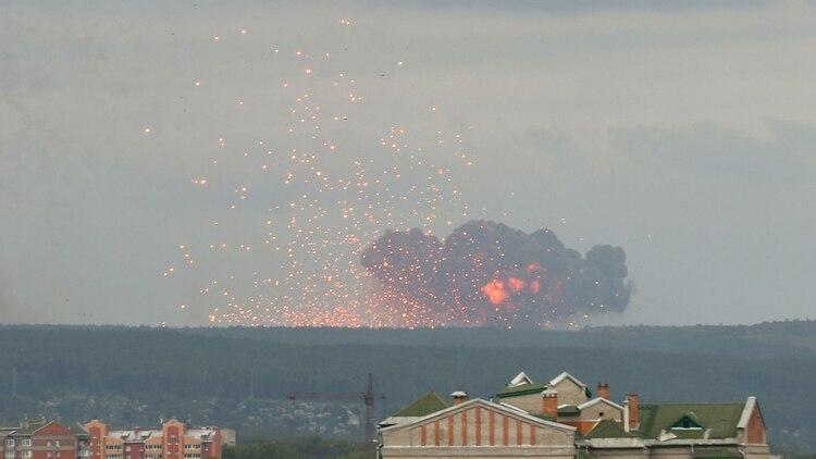 Las explosiones continúan