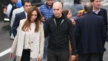 María Eugenia Vidal y Horacio Rodríguez Larreta motorizan la apertura de la coalición (Maximiliano Luna)