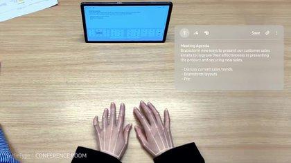 SelfieType también podría ser usado para tablets
