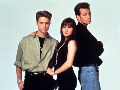 Jason Priestley,  Shannen Doherty y  Luke Perry (The Grosby Group)